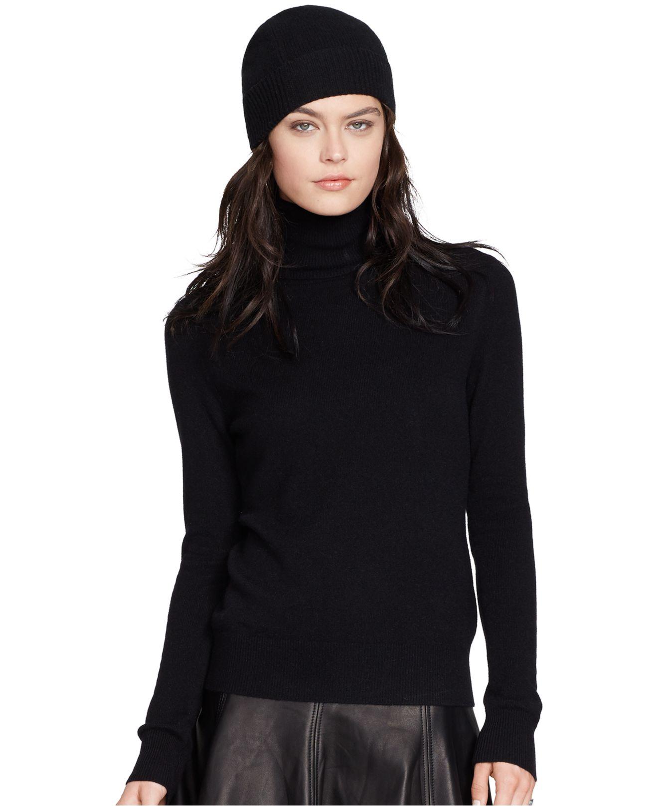 Polo ralph lauren Cashmere Gena Turtleneck in Black | Lyst