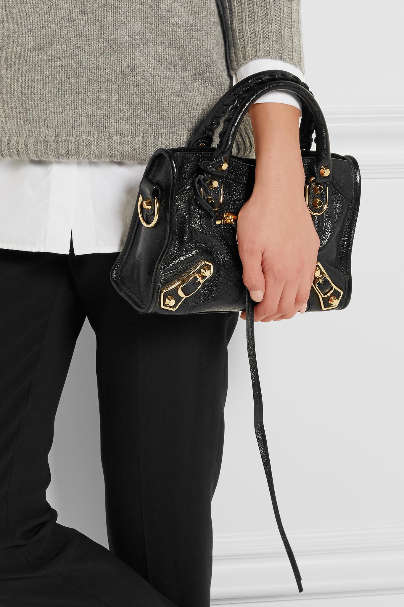1534be3030549 balenciaga classic city mini textured-leather wallet. Balenciaga Classic  Metallic Edge ...