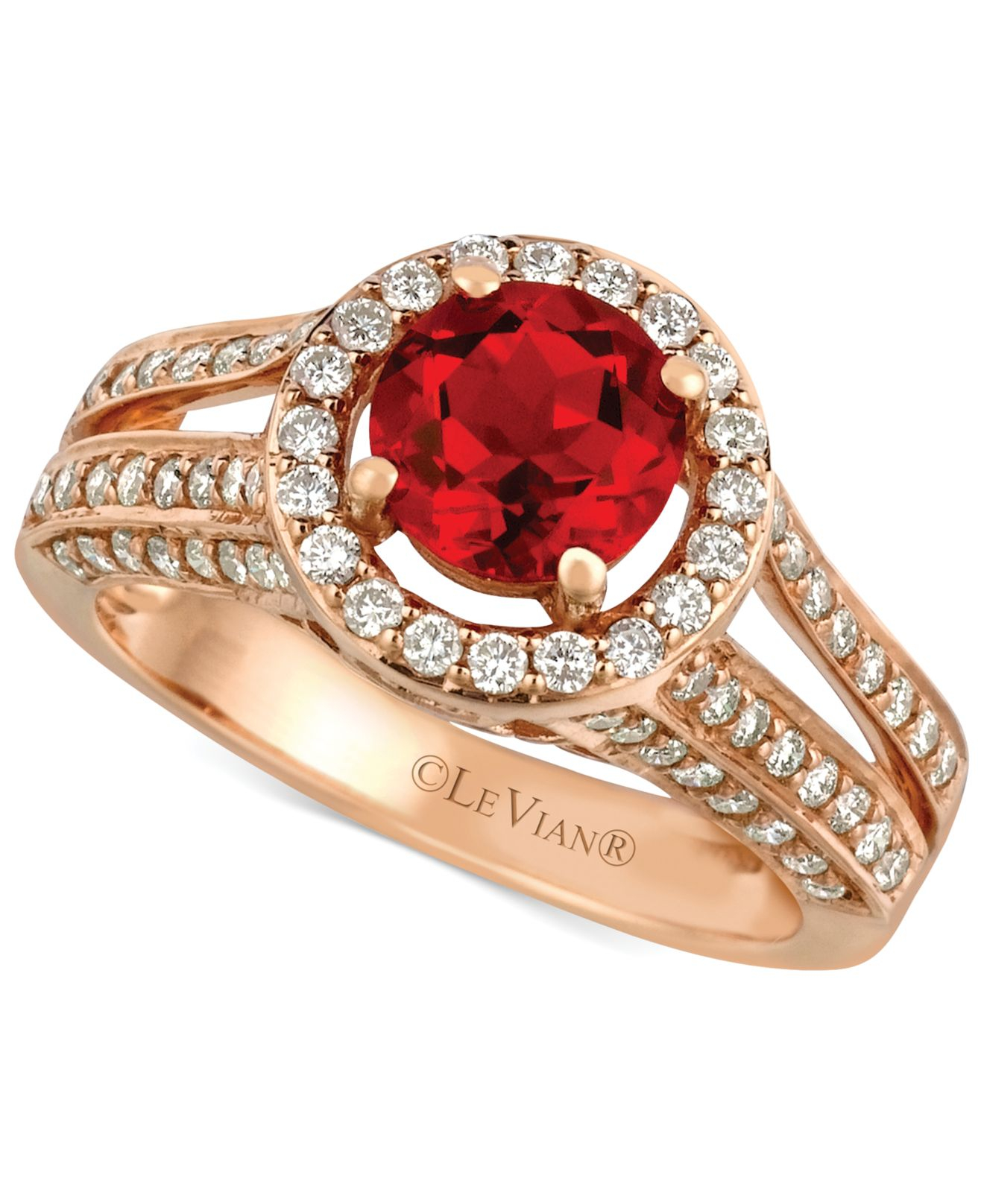 Le vian Fire Opal 3 4 Ct T W And Diamond 3 4 Ct T W Round