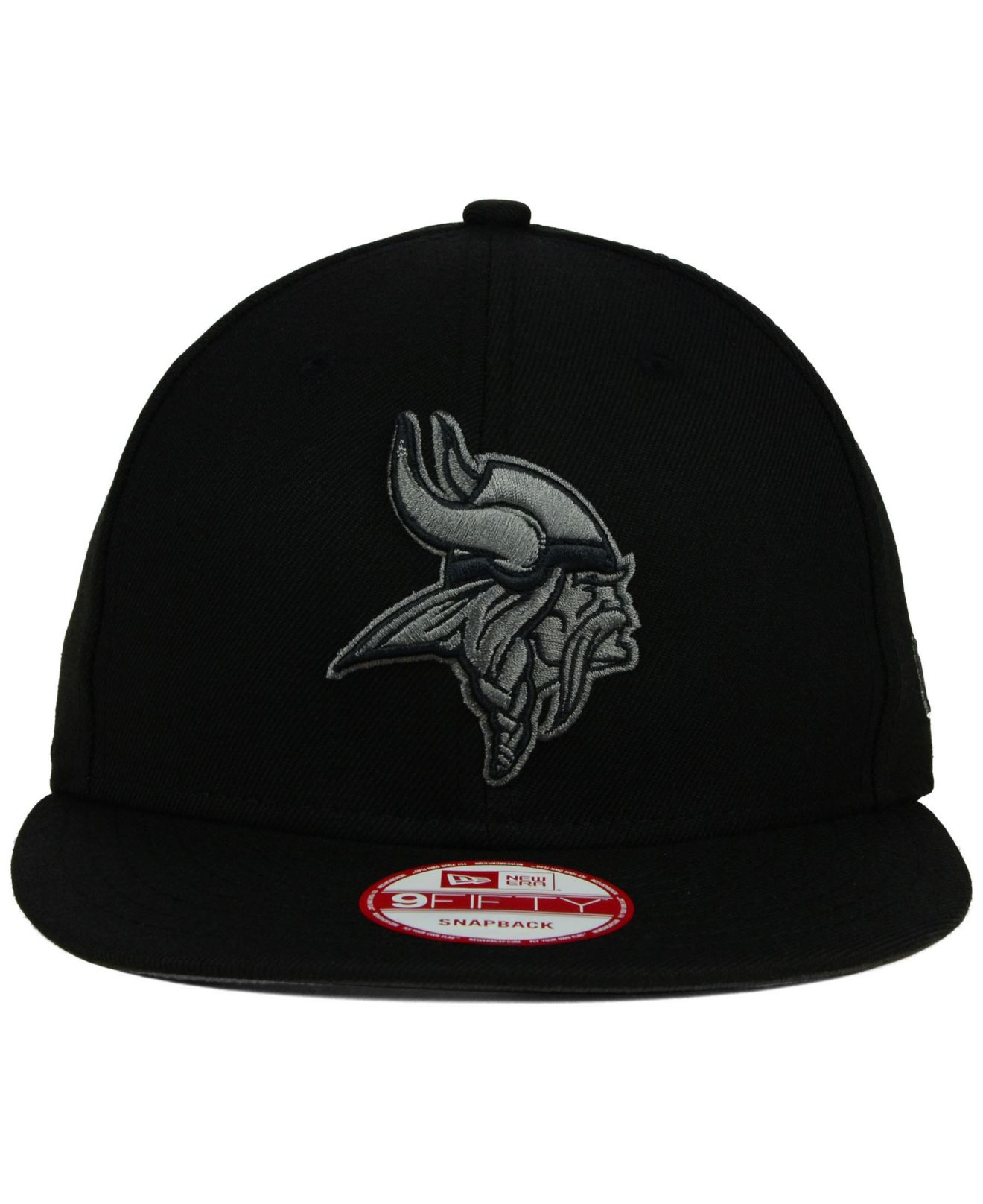 buy popular c887f 3af17 KTZ Minnesota Vikings Black Gray 59Fifty Hat in Black - Lyst