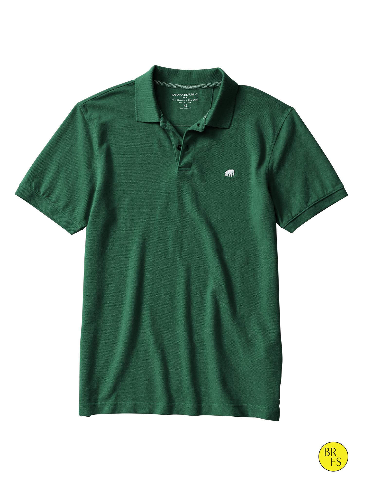 79f1ee79d0a2fd Lyst - Banana Republic Factory Elephant Logo Polo in Green for Men