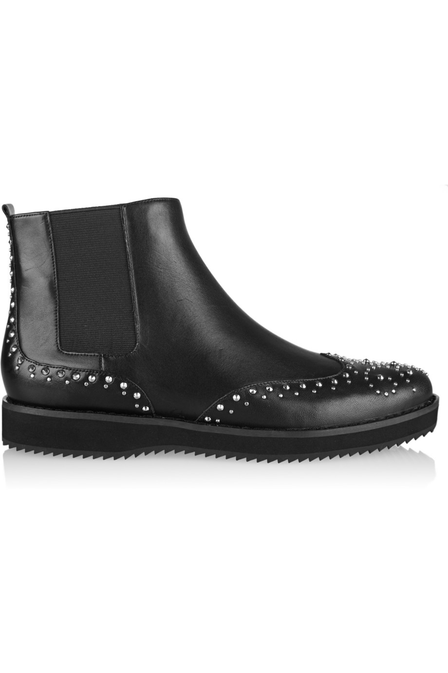 Lyst - Michael Michael Kors Sofie Studded Leather Chelsea Boots In Black