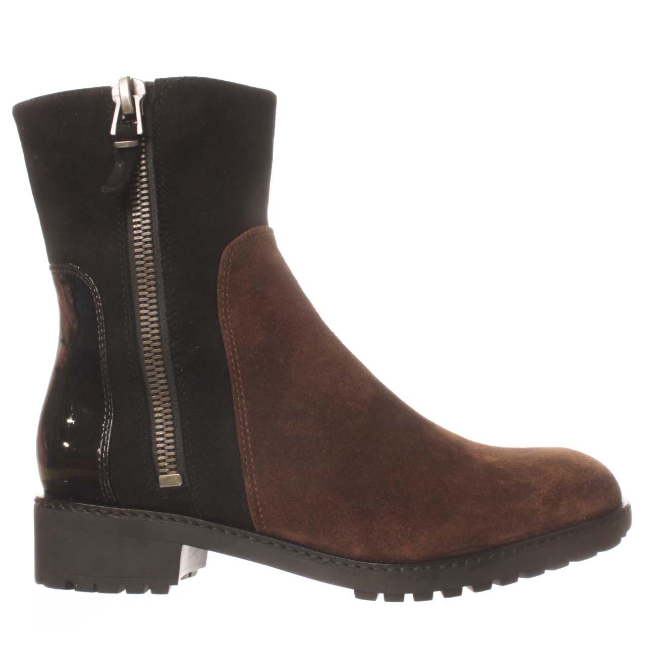 via spiga eartha mid calf boot in brown lyst