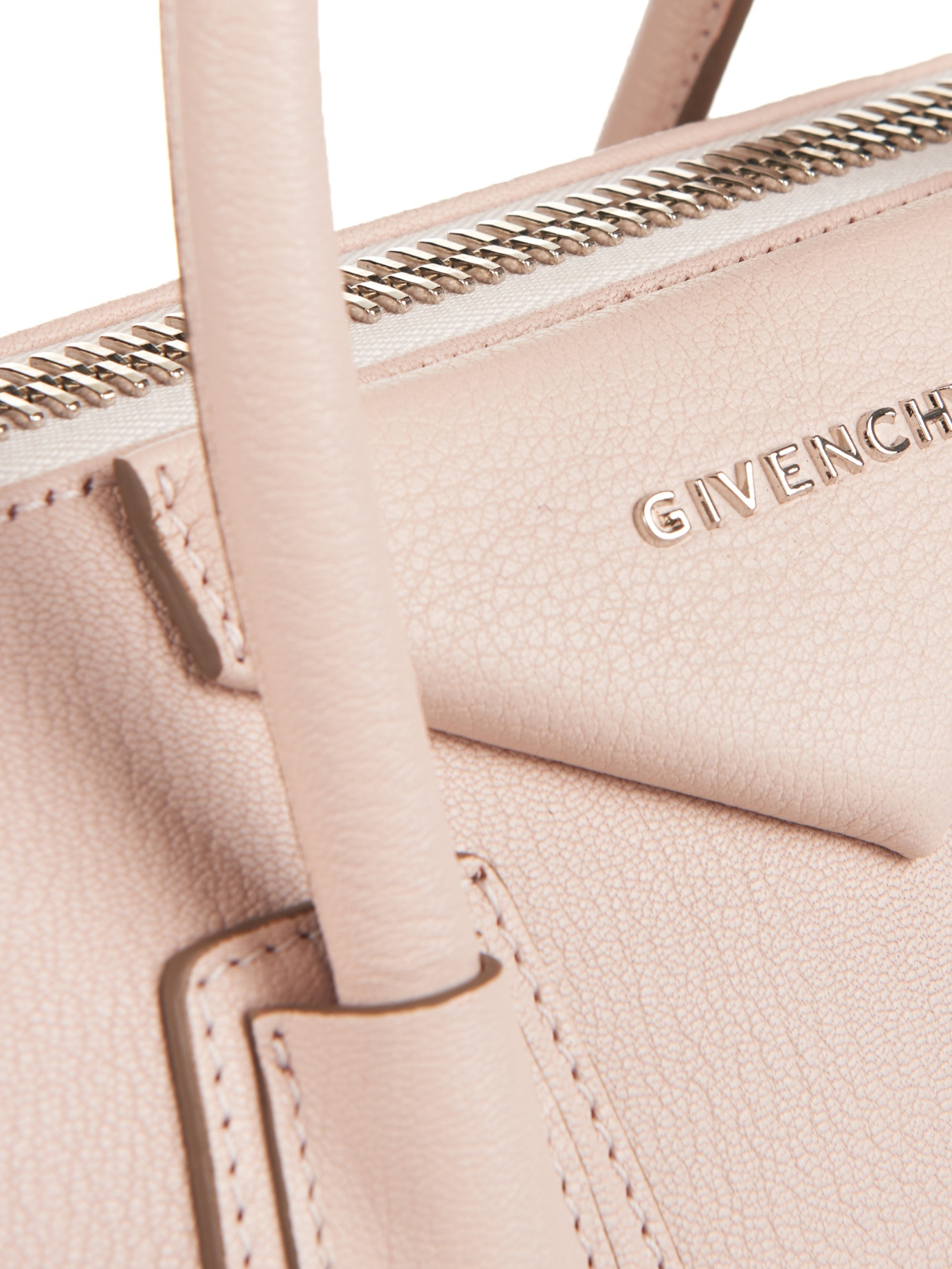 85f821ae9a Lyst - Givenchy Antigona Small Sugar-leather Tote in Pink