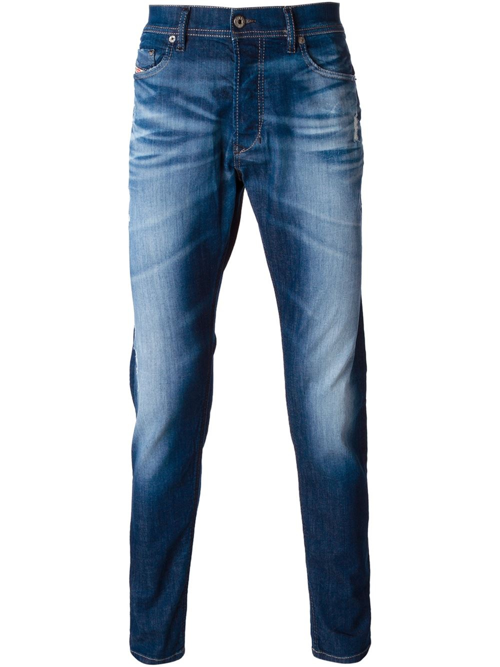 lyst diesel stone washed jeans in blue for men. Black Bedroom Furniture Sets. Home Design Ideas