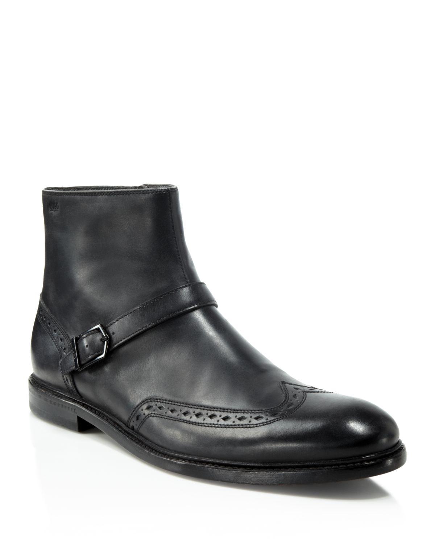 lyst boss hugo cordel wingtip chelsea boots in black for men. Black Bedroom Furniture Sets. Home Design Ideas