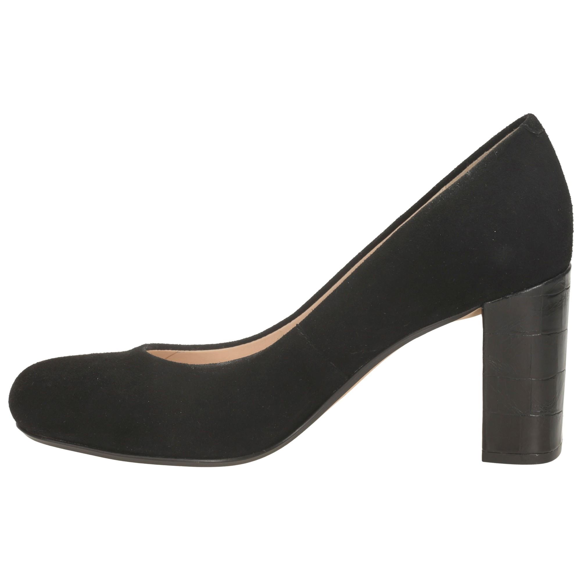 cdc9d136 Clarks Gabriel Mist Block Heel Court Shoes in Black - Lyst