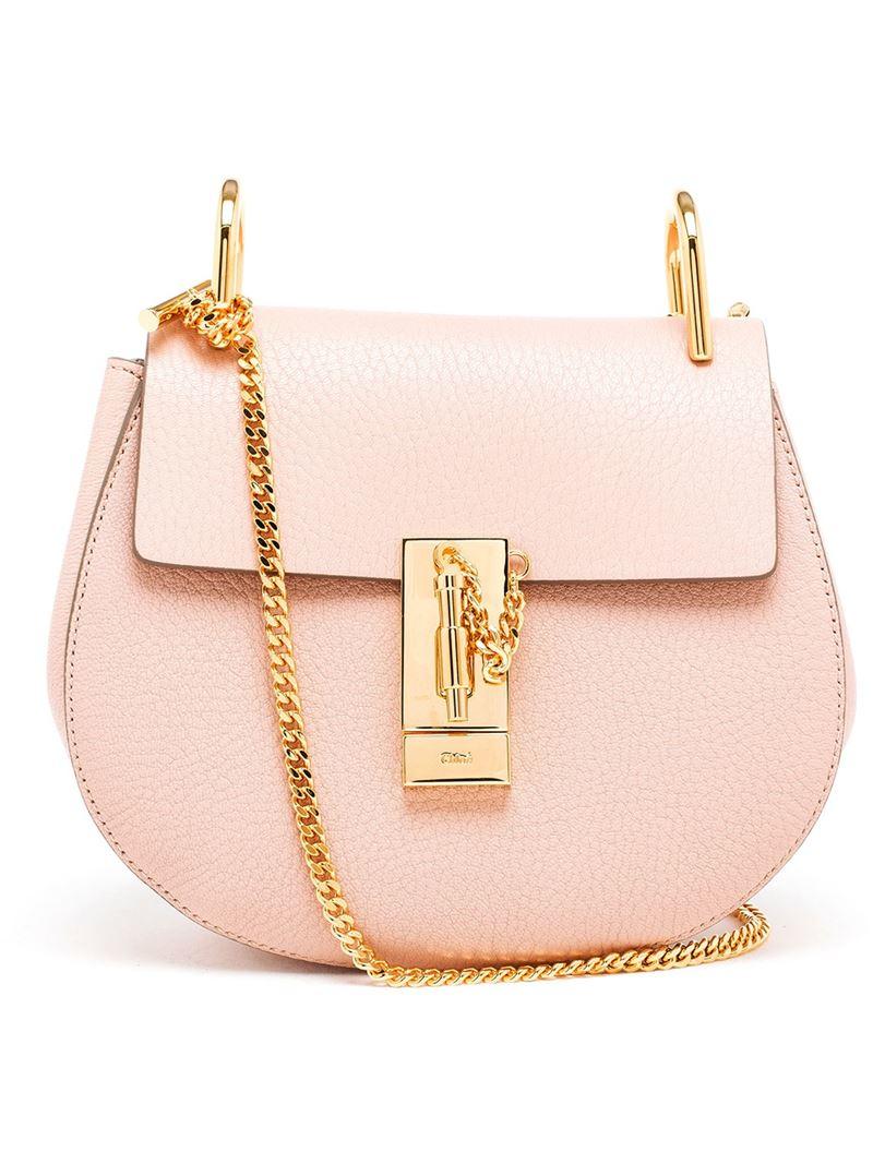 lyst chlo 39 drew 39 shoulder bag in pink. Black Bedroom Furniture Sets. Home Design Ideas