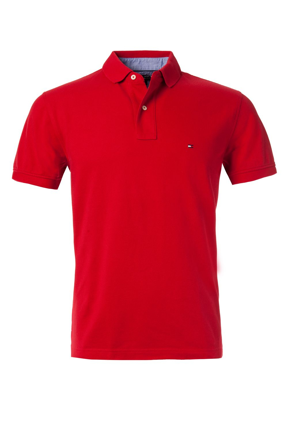 tommy hilfiger tommy short sleeve polo in red for men lyst. Black Bedroom Furniture Sets. Home Design Ideas
