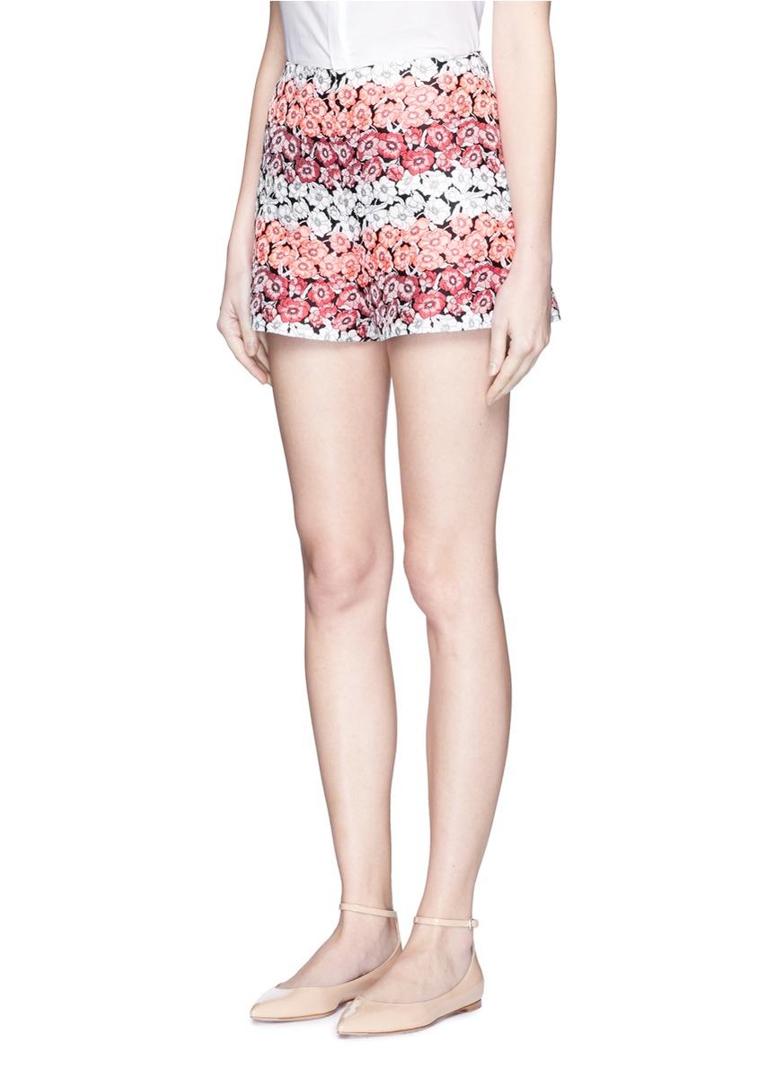 1766307625b3 Lyst - Giamba Flower Jacquard Shorts in Pink