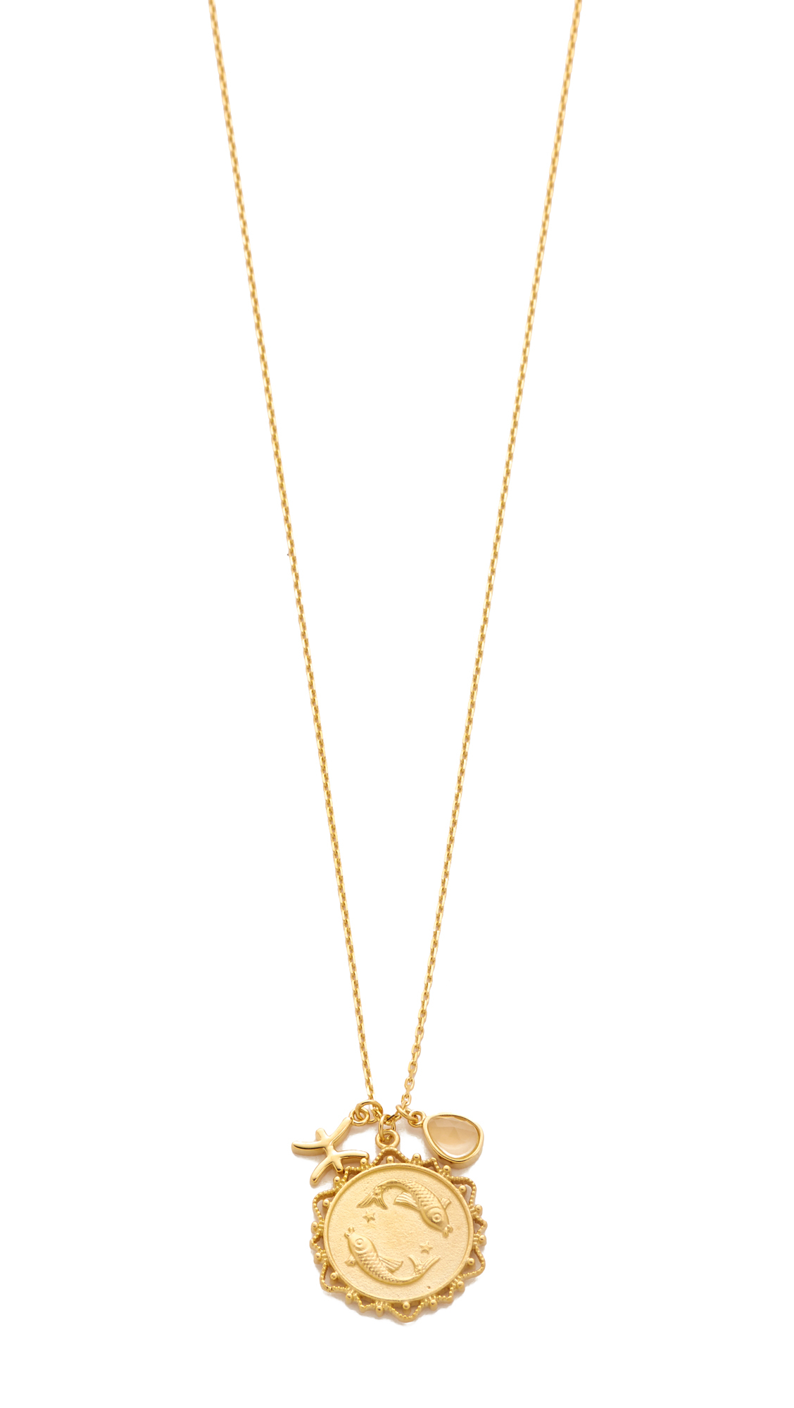 Tai Jewelry Aquarius Pendant Gold M4ZcKFPYKG