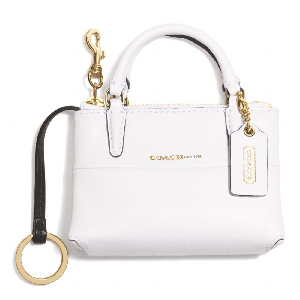 Lyst - COACH White Borough Bag Key Ring in White f9be78c5f7