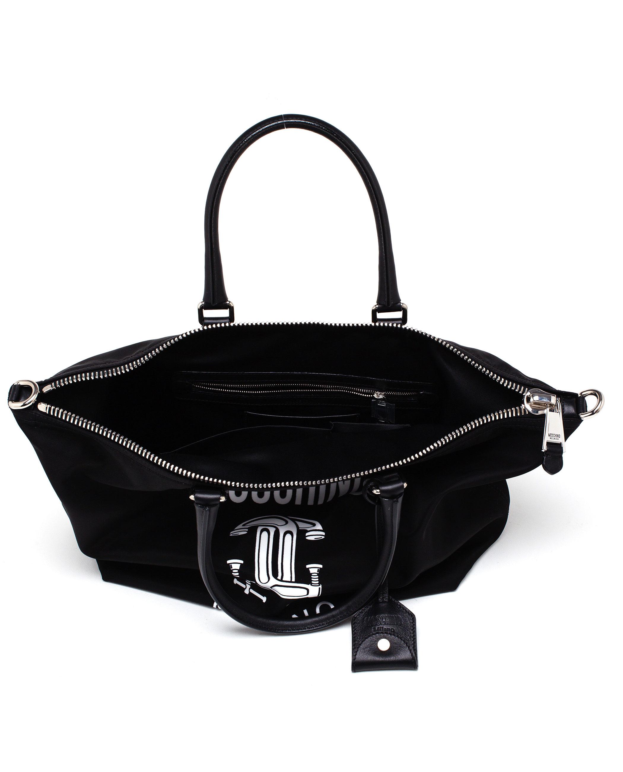 Moschino Fabric Shopping Bag in Black   Lyst
