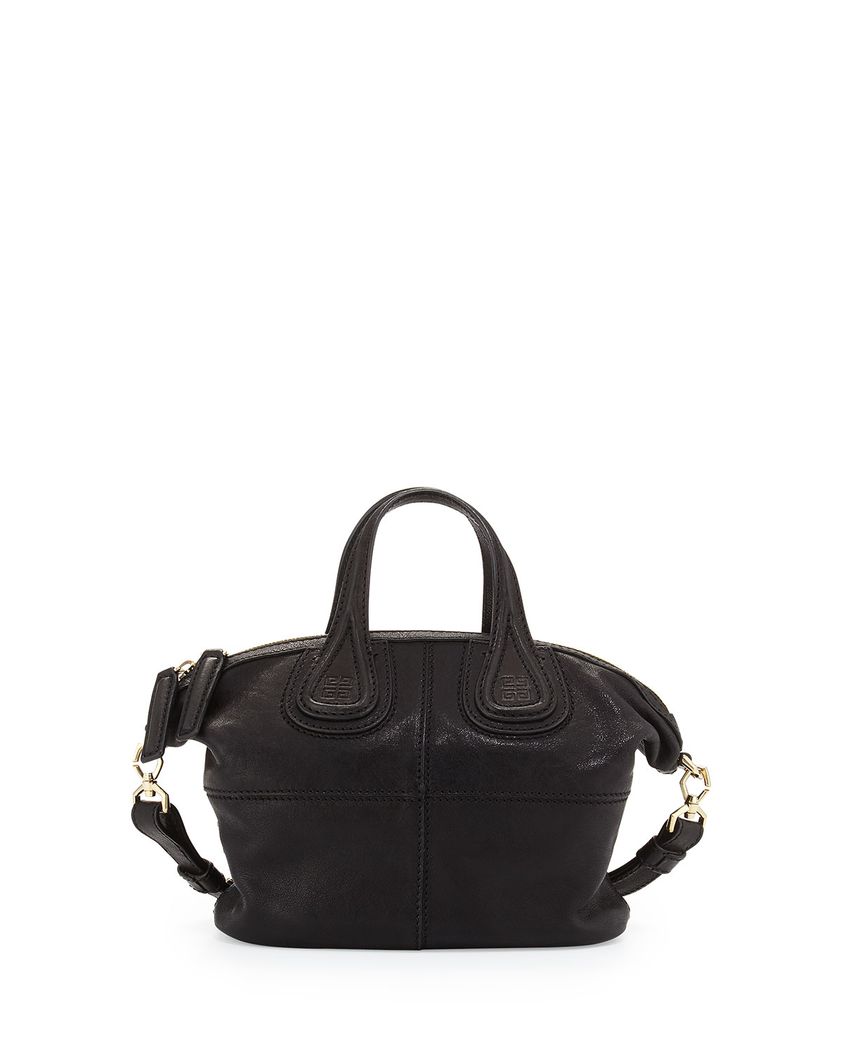 Lyst - Givenchy Nightingale Canvas   Leather Satchel Bag in Black af9fb9dce597e