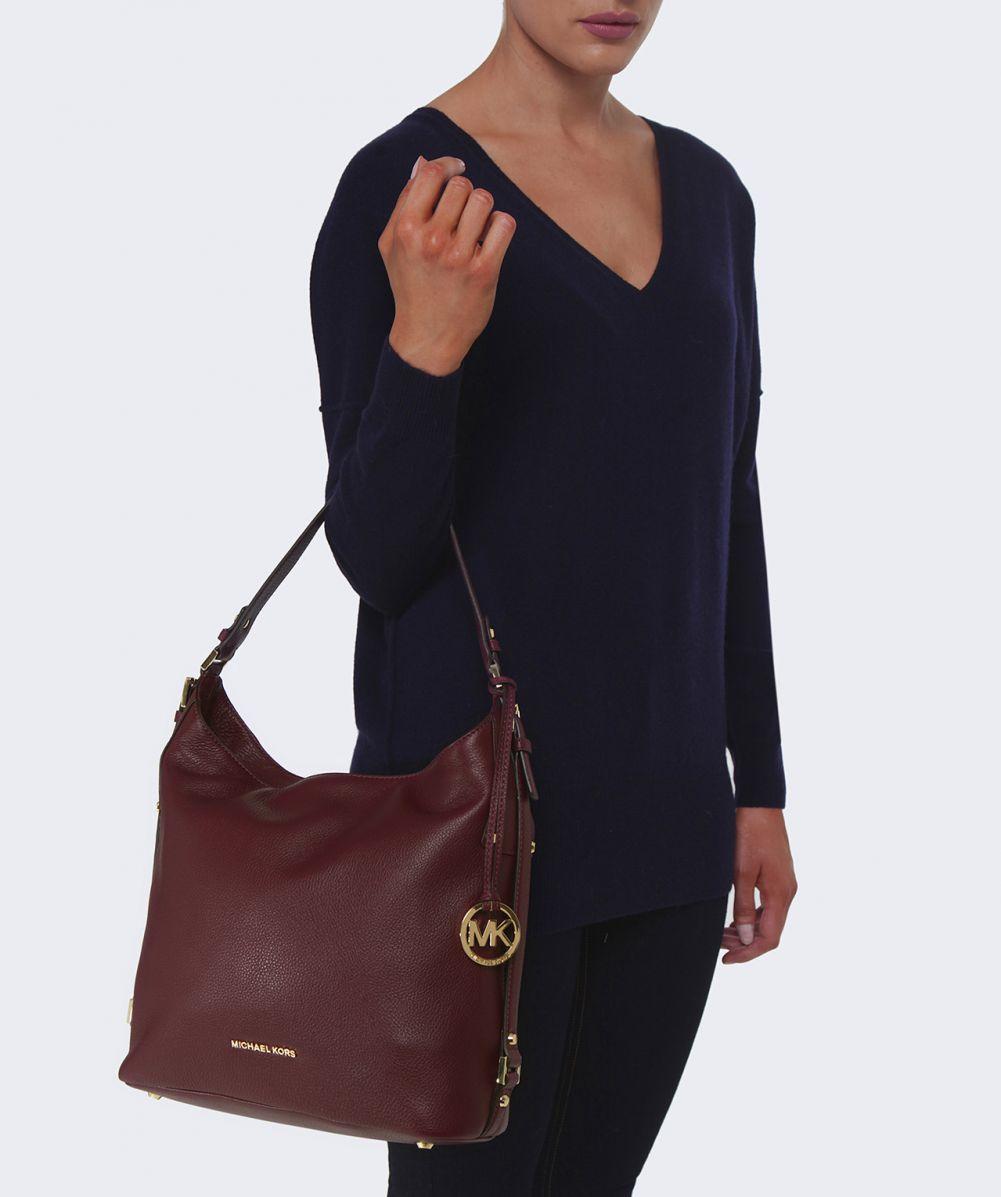 aaedb3f1de9a ... where can i buy lyst michael michael kors bedford belted shoulder bag  in purple 2de8e ce820
