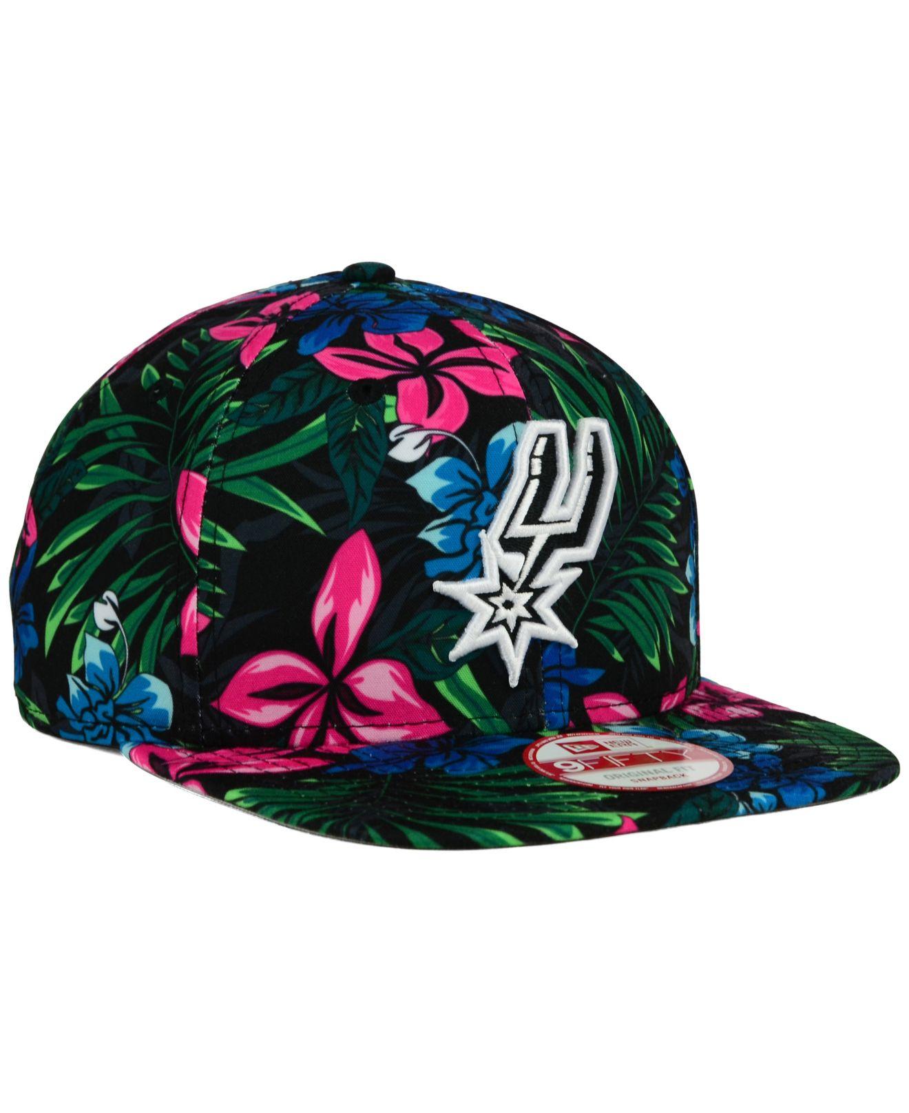 Lyst - KTZ San Antonio Spurs Hwc Shadow Floral 9fifty Snapback Cap ... bec1b5e66570