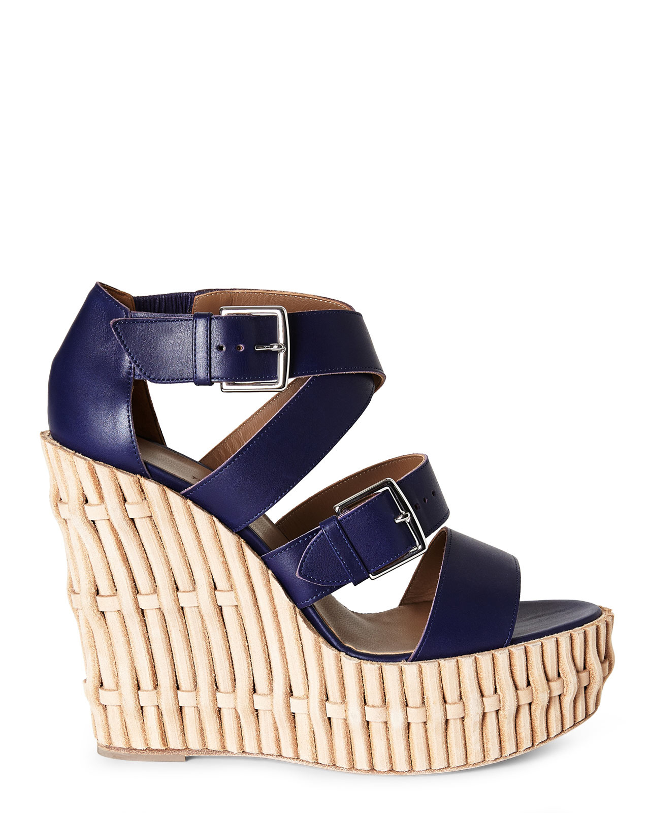 Hermès Leather Platform Wedges clearance supply discount good selling shop for 2014 newest cheap online wholesale price dVQGjH