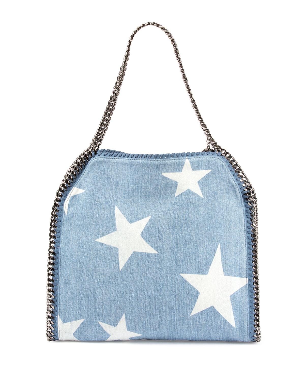 8dc0faf99a5 Lyst - Stella McCartney Small Falabella Star-print Tote Bag in Blue