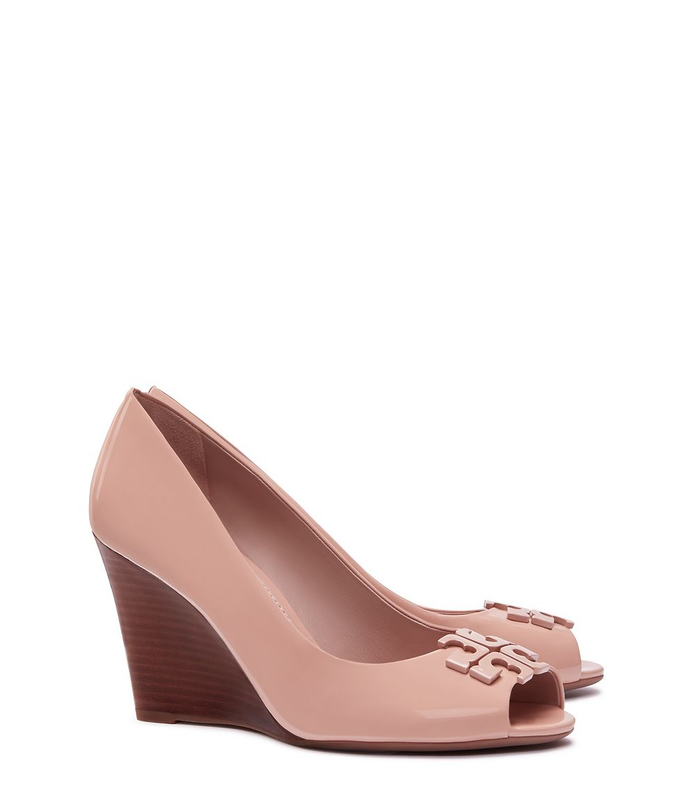 Tory Burch Suede Round-Toe Wedges cheap finishline newest cheap price cheap sale affordable cheap sale with credit card clearance fast delivery 3fA6sW7TJ6