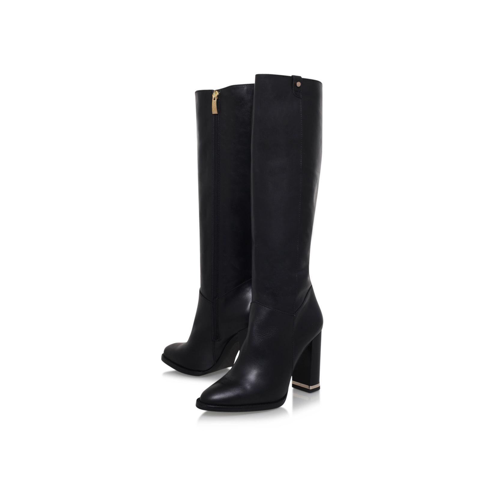 kurt geiger dane high heel knee boots in black lyst
