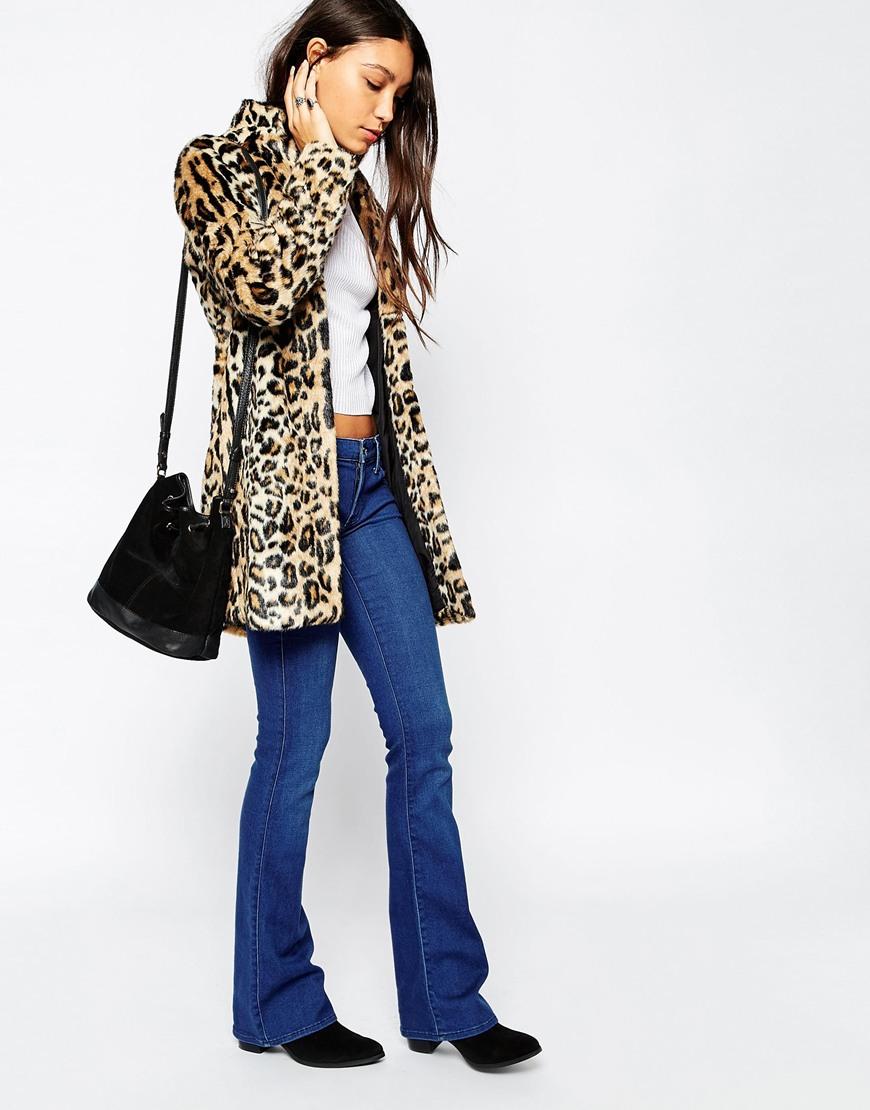 Pepe jeans coat leopard