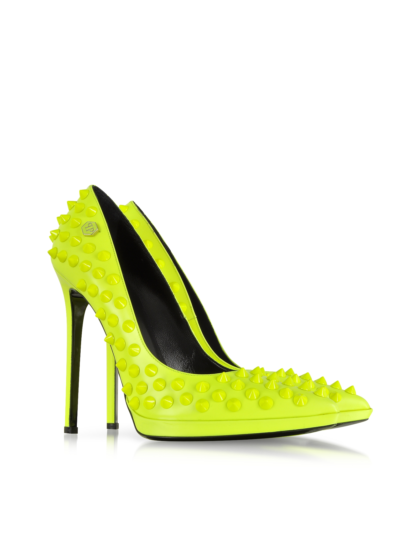 Neon Yellow Open Toe Heels
