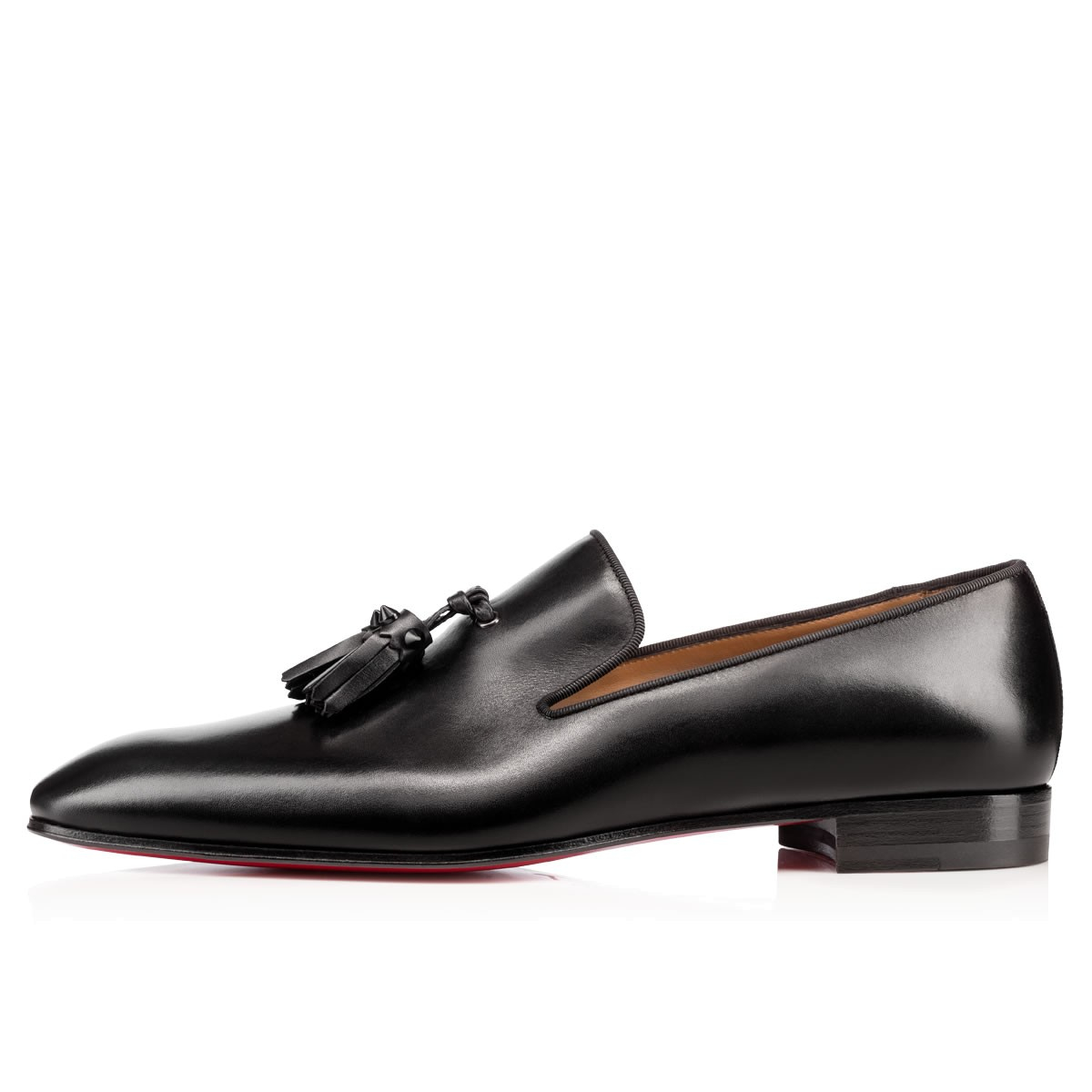 chris louboutin website - Christian louboutin Dandelion Tassel Flat Leather Shoes in Black ...