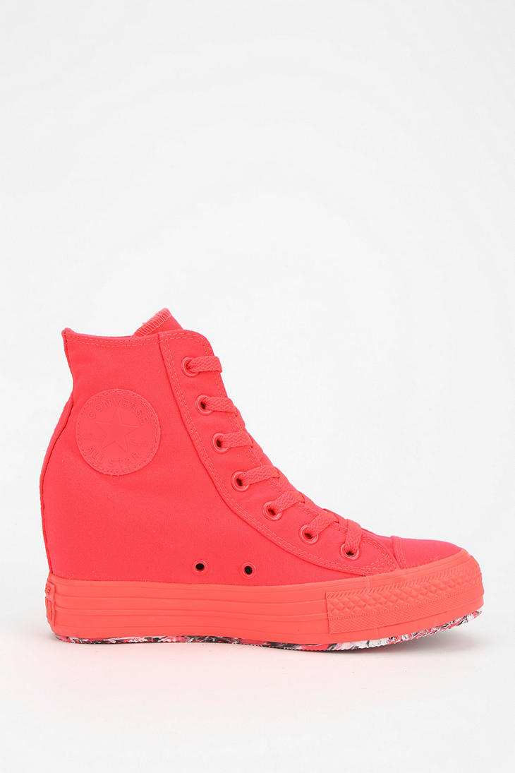 Converse Plus Contrast Sole Womens Hidden Wedge Hightop ...