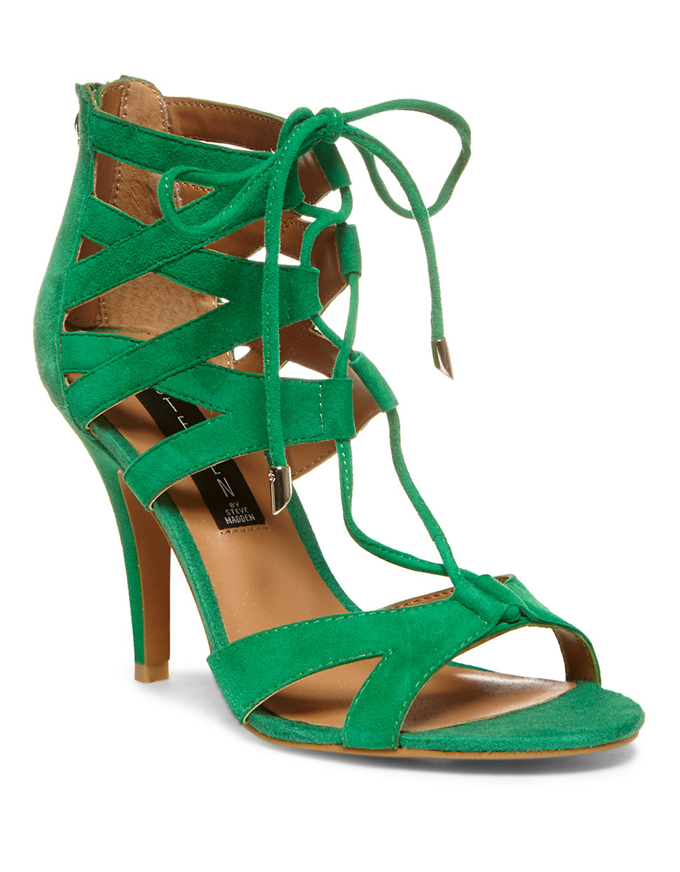steven by steve madden gingir high heel sandals in green. Black Bedroom Furniture Sets. Home Design Ideas