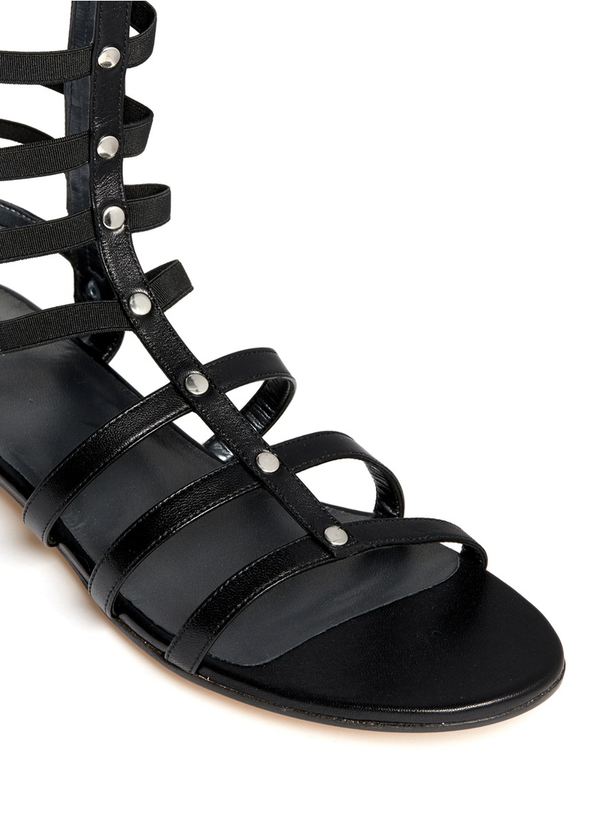 Black Caged Sandals Or Shoes