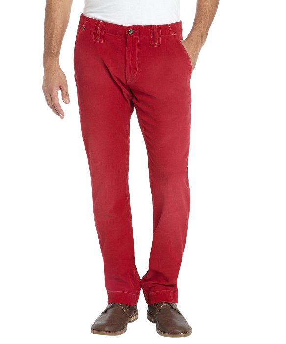 Robert graham Red Cotton Slim Fit 'Butter' Corduroy Pants in Red ...