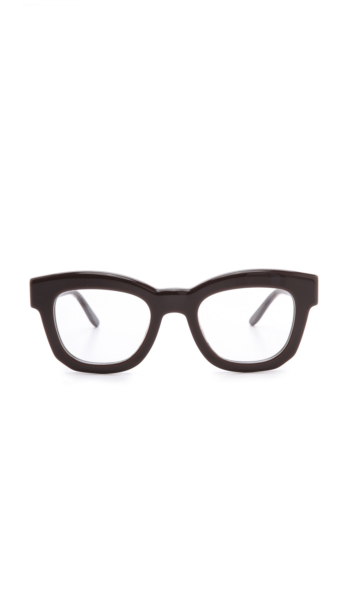 Lyst - Stella Mccartney Thick Frame Glasses - Brown in Brown