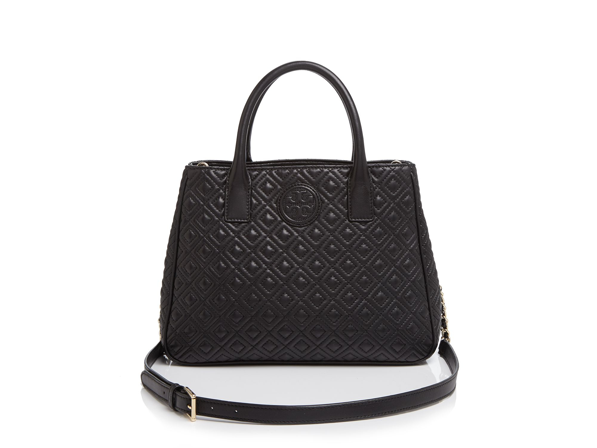 Lyst Tory Burch Tote Marion Quilted In Black