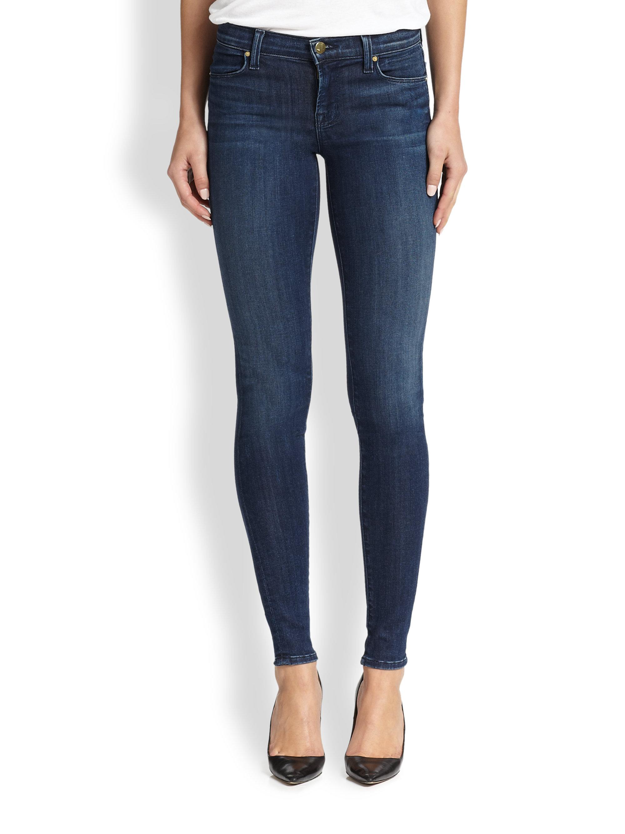 j brand 620 mid rise super skinny jeans in blue lyst. Black Bedroom Furniture Sets. Home Design Ideas