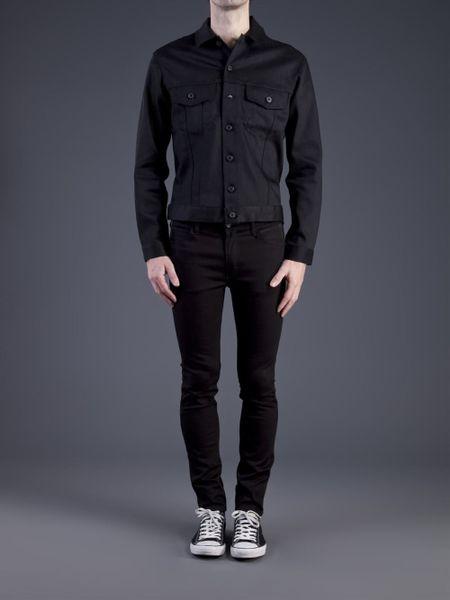 Naked  Famous Denim Jacket In Black For Men Denim  Lyst-3610
