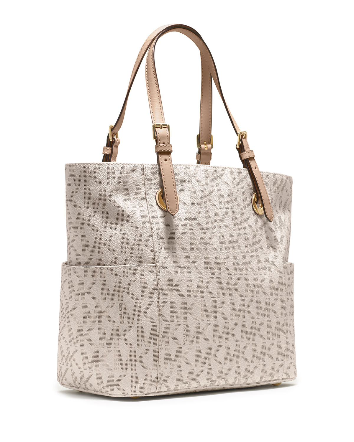 Michael Michael Kors Jet Set Logo Monogram Item Tote In