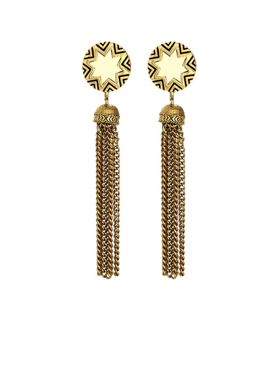house of harlow 1960 sunburst tassel earrings in gold lyst