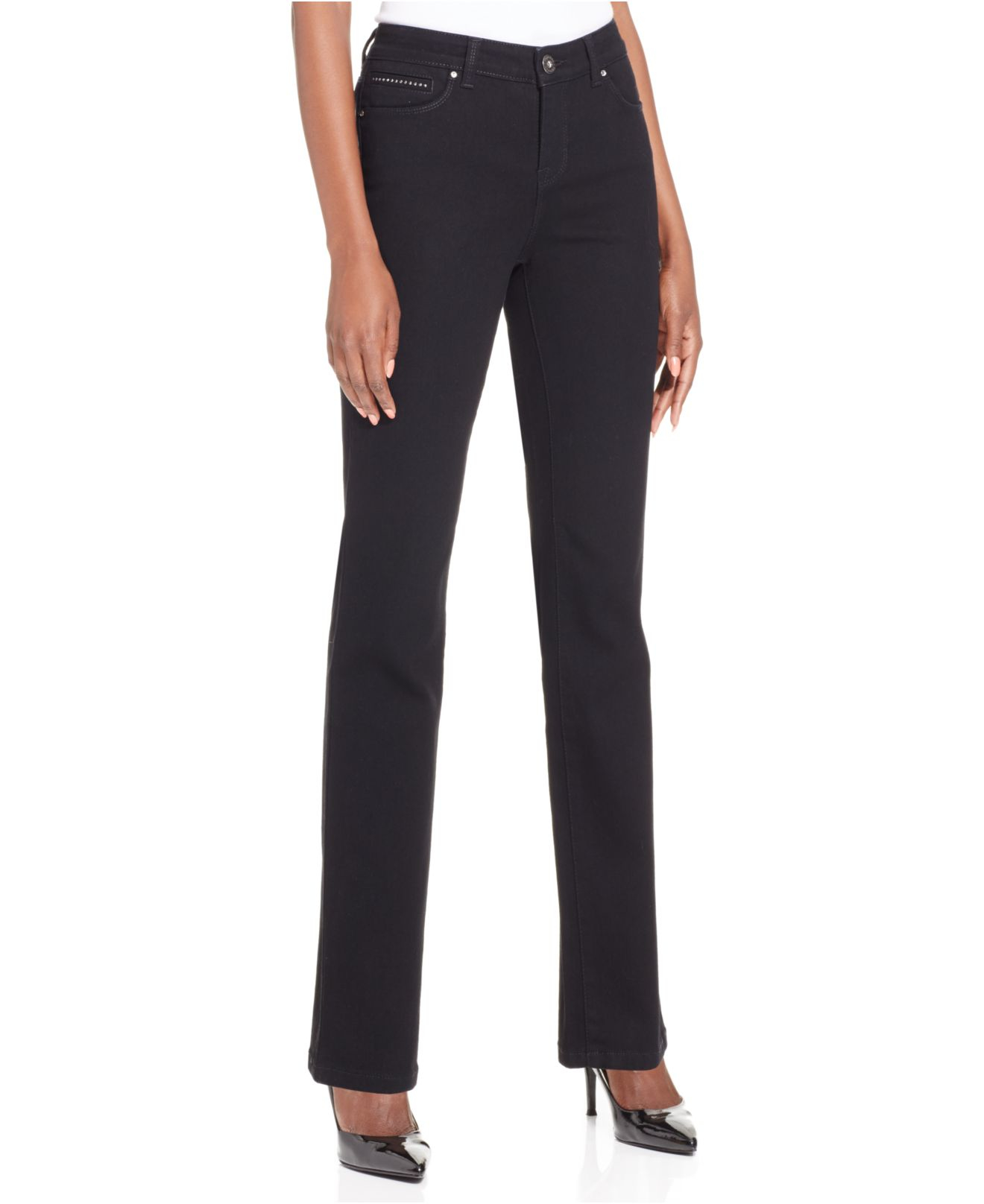 Style & co. Petite Tummy-control Straight-leg Jeans in ...