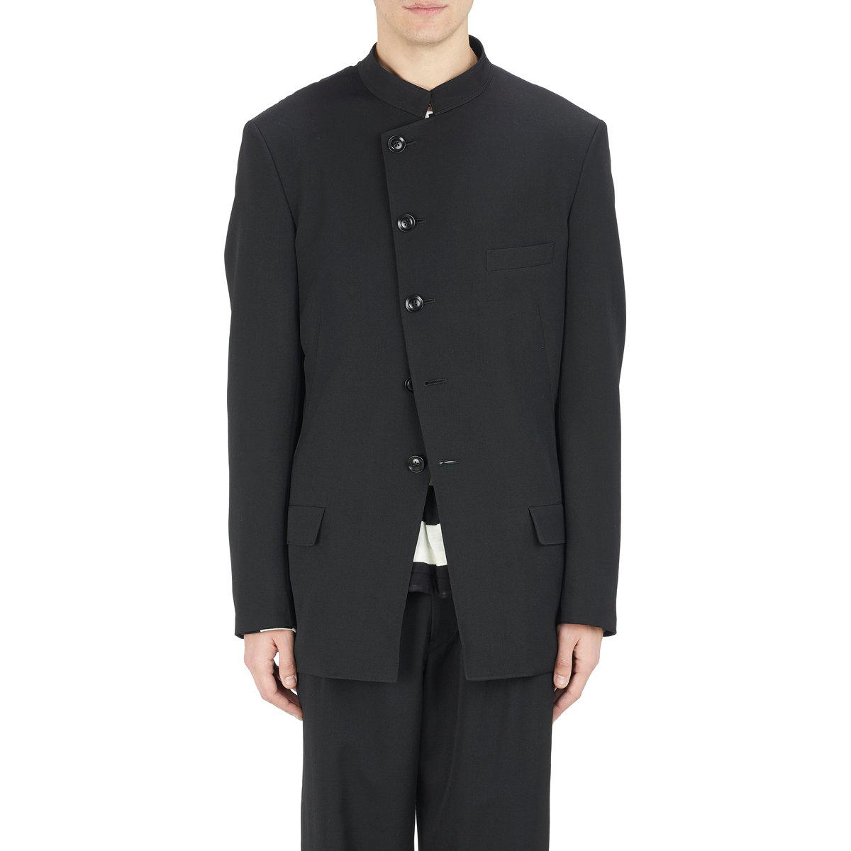 Yohji Yamamoto asymmetric jacket Free Shipping Pre Order Visit New Sale Online Buy Cheap Pictures 8mqM02TER