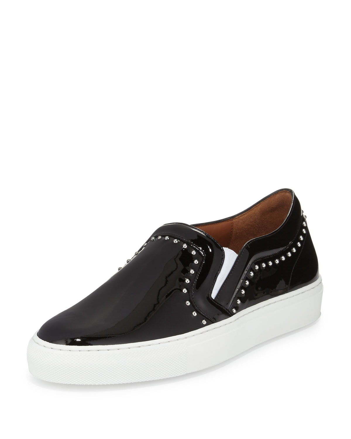 imitation christian louboutin shoes - Givenchy Studded Patent Leather Skate Shoe in Black | Lyst