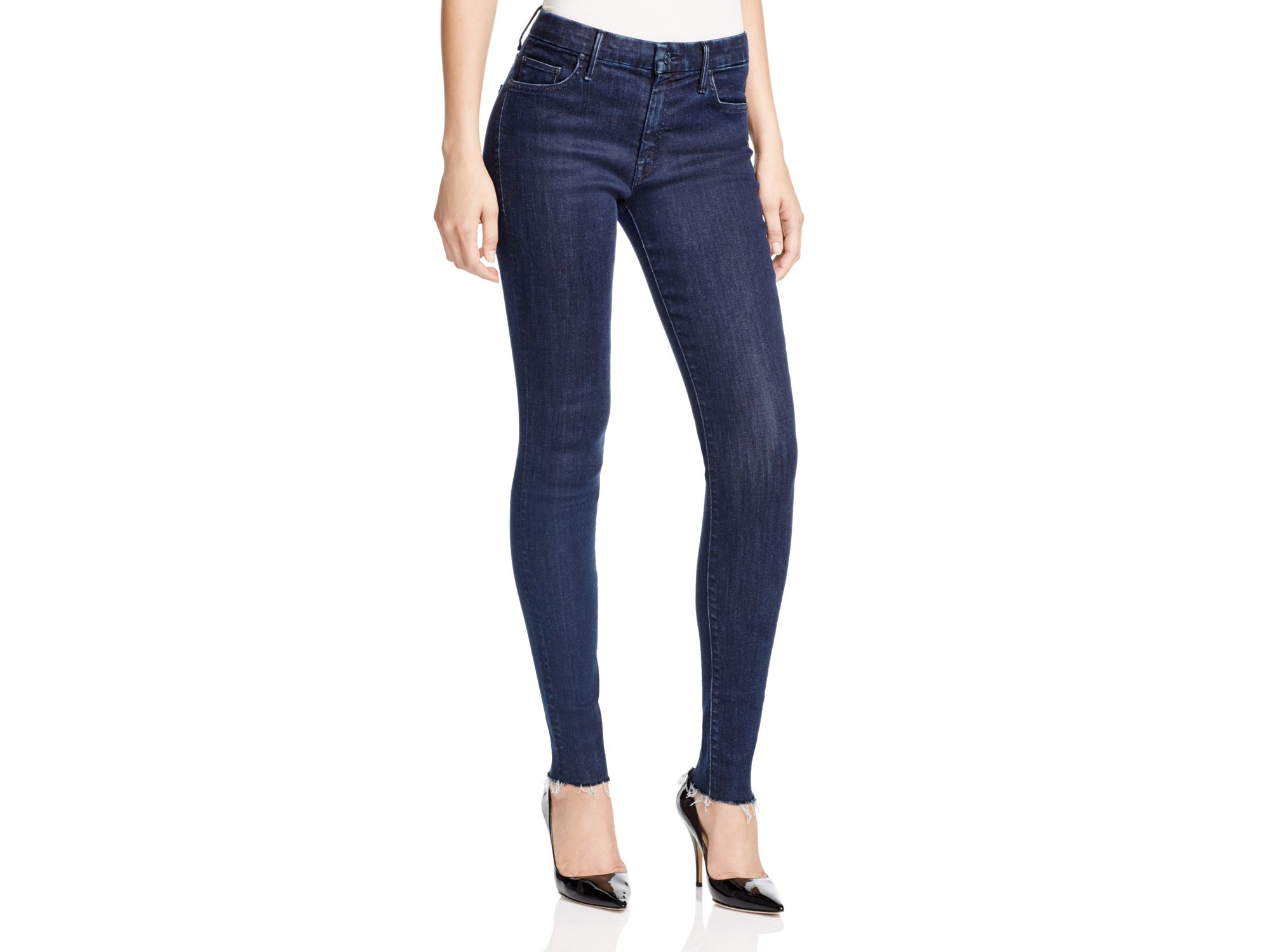 98ce7471735a Women s Blue Looker Frayed Cuff Skinny Jeans In Trouble With Patience