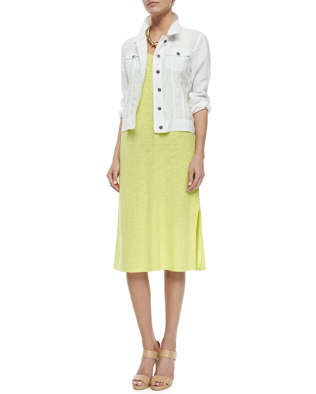 Eileen Fisher Organic Linen Jacket In White Lyst