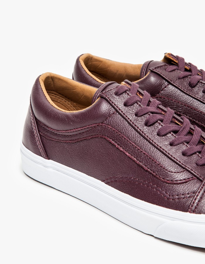 3f0d5fa76bd Lyst - Vans Old Skool Leather Wine Tasting in Purple for Men