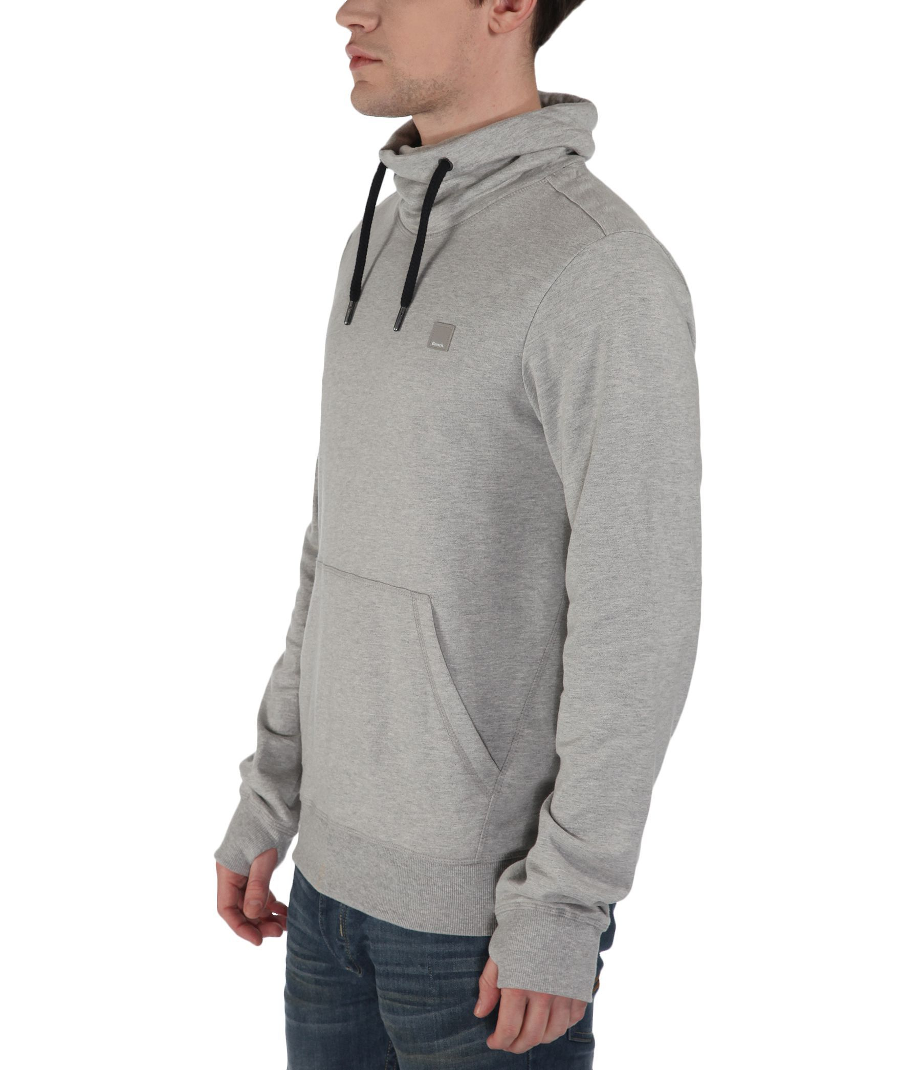 Bench Syfon Plain Funnel Neck Pull Over Hoodie in Gray for Men | Lyst