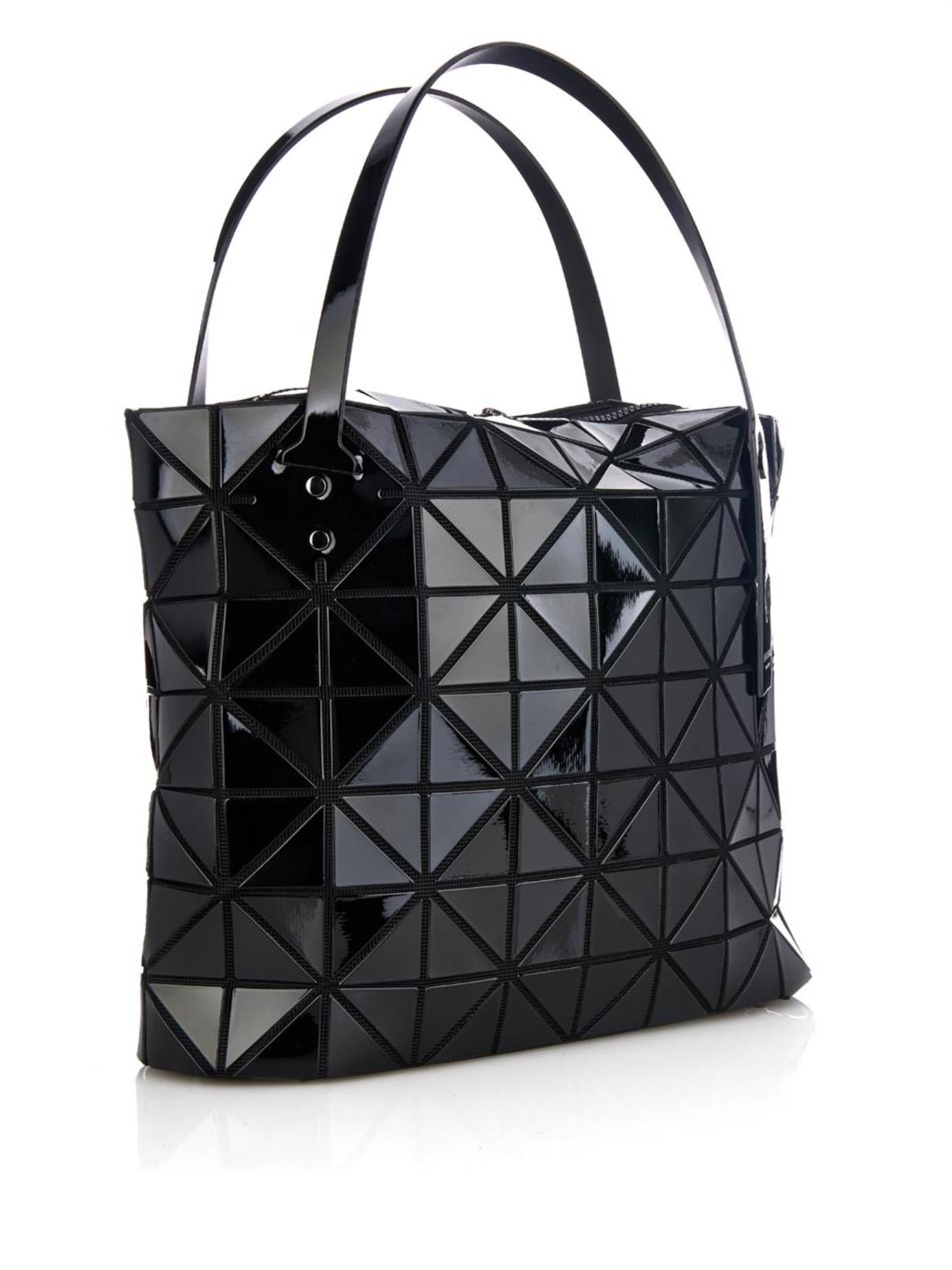 3be7eee5d7 Lyst - Bao Bao Issey Miyake Rock Basic Shopper Tote in Black