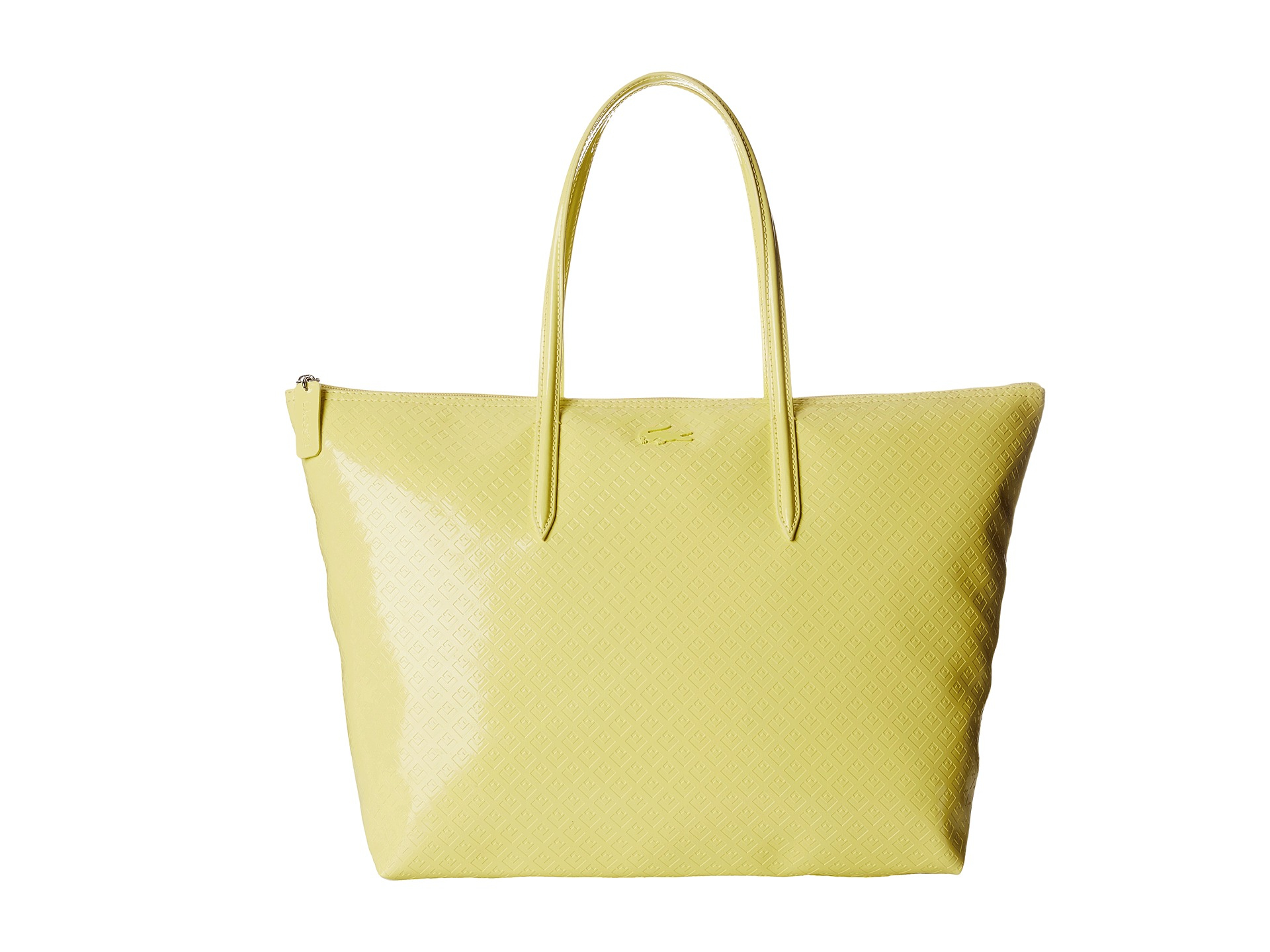 Lyst Lacoste L1212 Glossy Large Shopping Bag In Yellow Nucelle Women Real Genuine Leather Purse Daily Backpack Blue Gallery