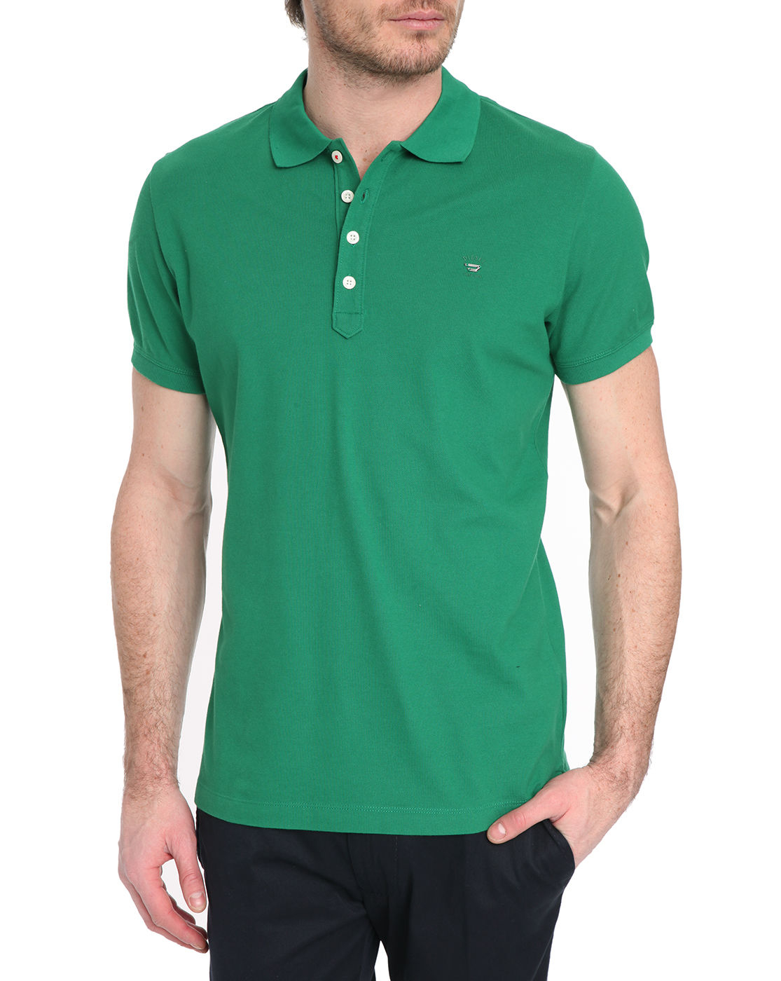 diesel yahei green short sleeved polo shirt in green for men lyst. Black Bedroom Furniture Sets. Home Design Ideas