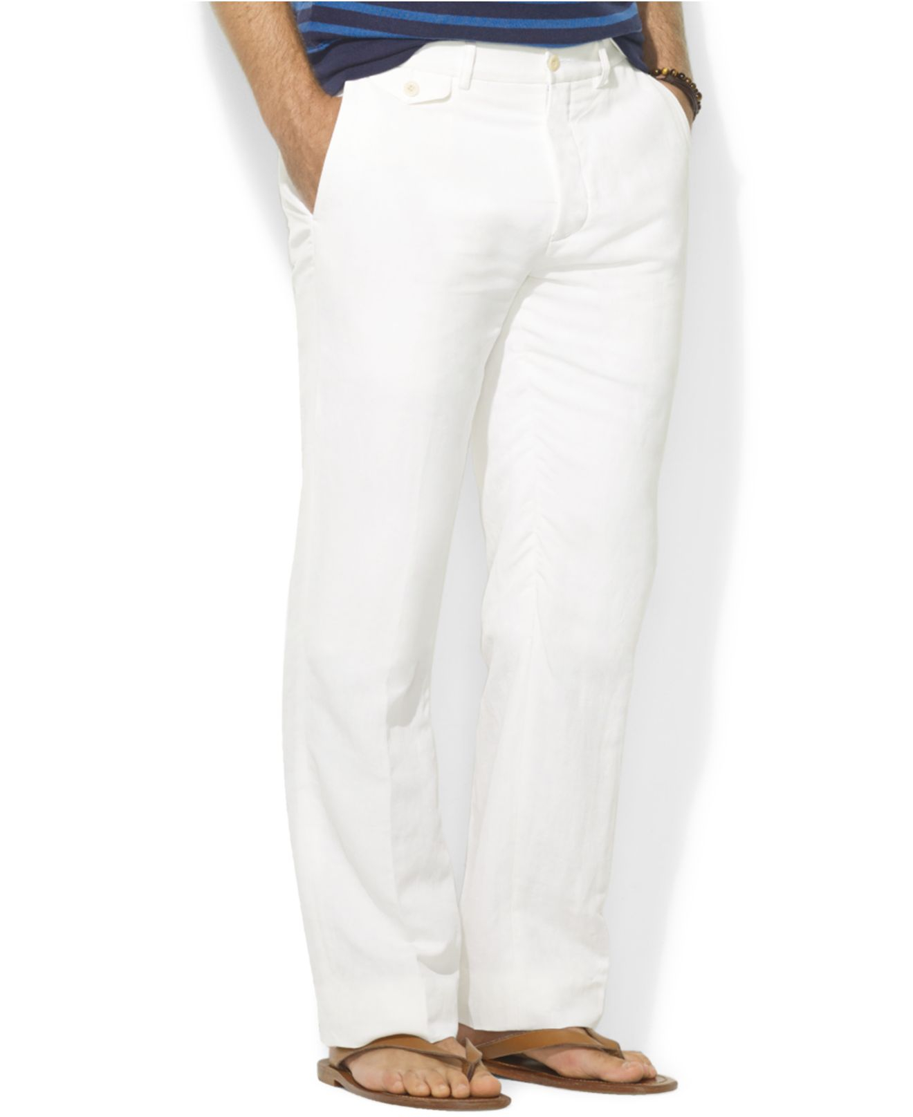Polo ralph lauren Briton Twill Pants in White for Men | Lyst
