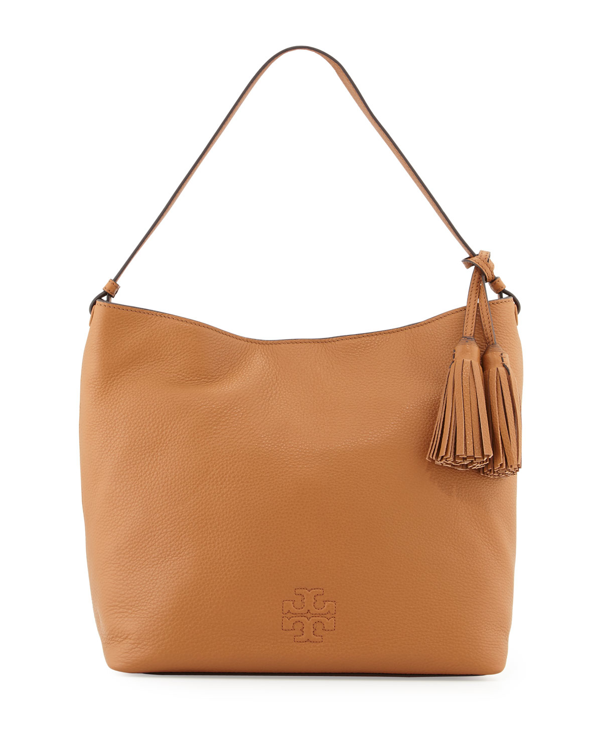5c2d7cd6a12d0 Lyst - Tory Burch Thea Leather Hobo in Brown