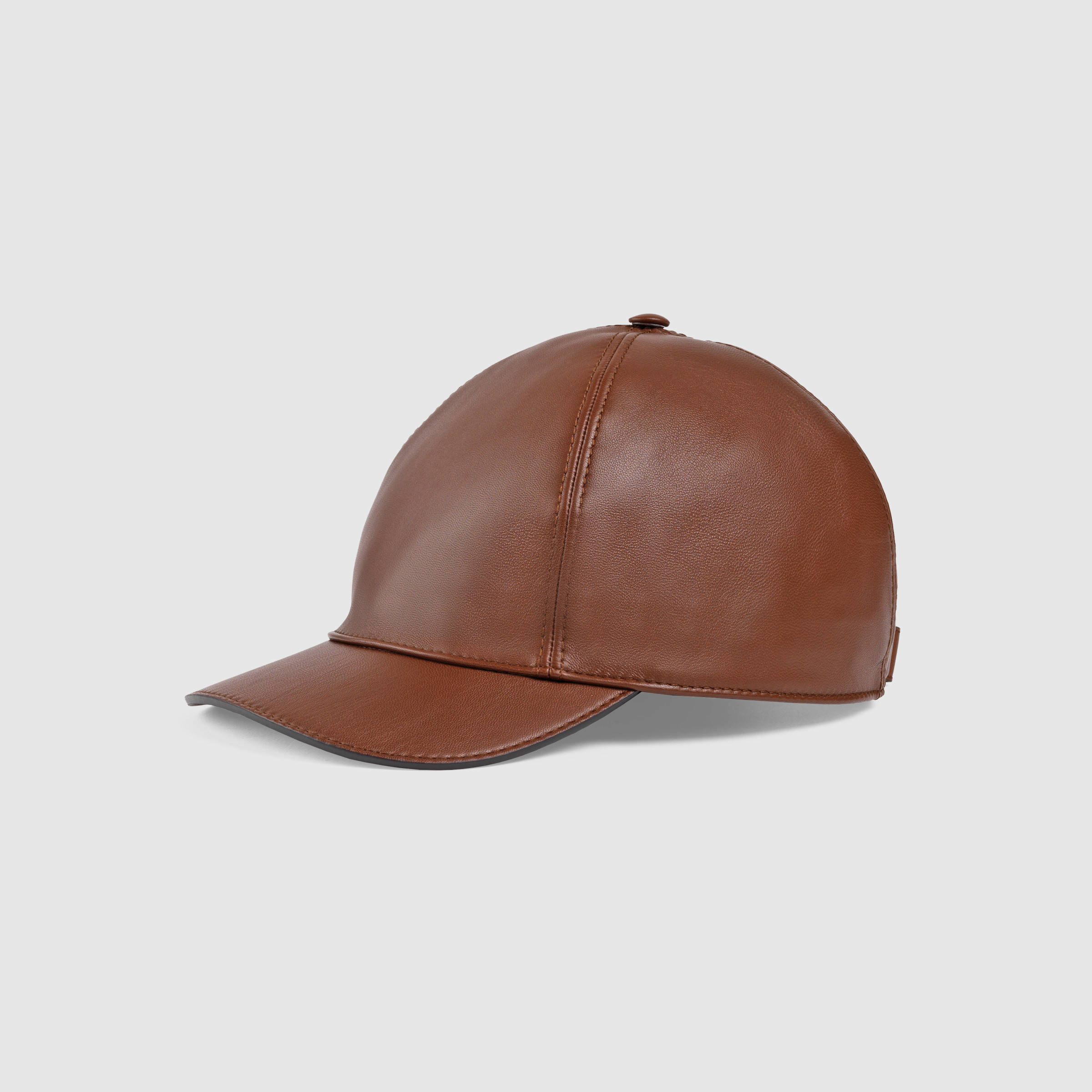 Lyst - Gucci Leather Baseball Hat in Brown for Men 1d73dc15bbe